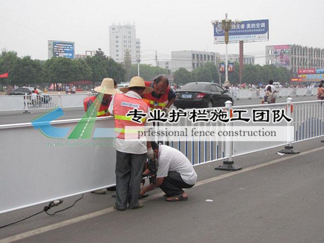 重庆市政护栏施工现场